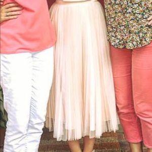 Adrianna Papell pink blush tulle skirt